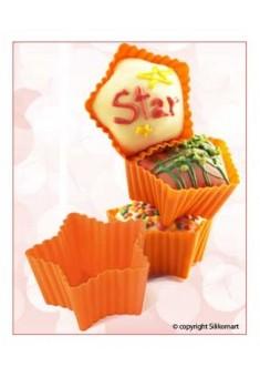 Silikónová forma Cupcakes  Hviezdičky, 6 ks